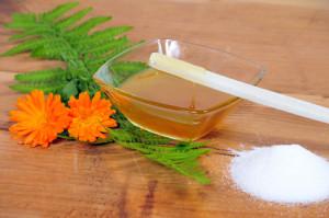 Die fertige selbstgemachte Sugaring Paste hergestellt nach eigenem Rezept